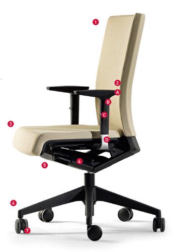 silla de oficina ergonómica winner